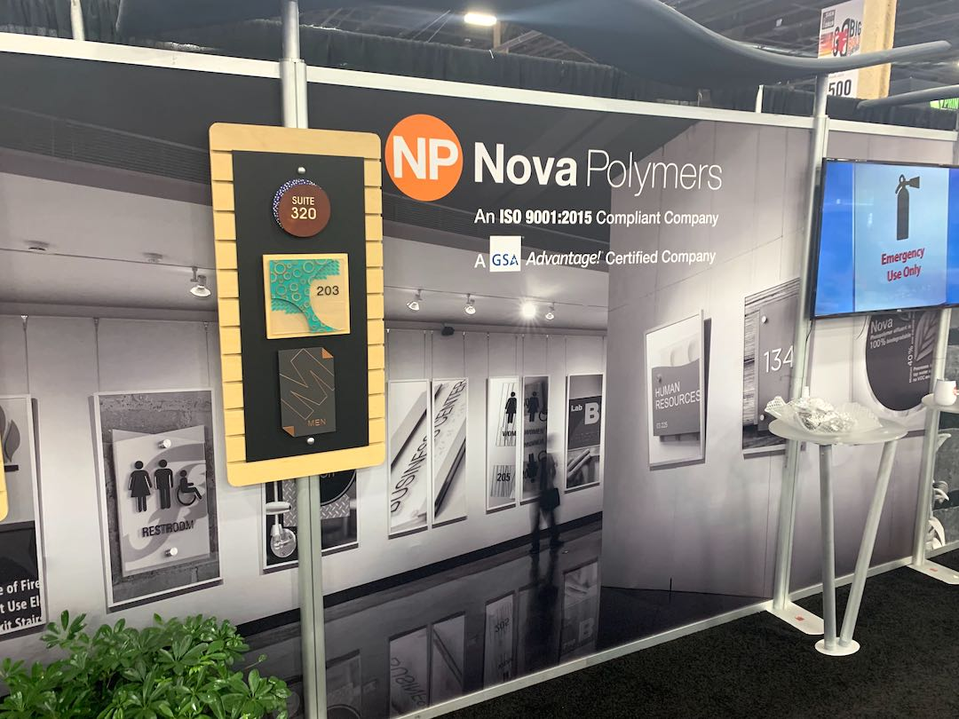 Nova Polymers Booth at ISA Sign Expo 2019 designed by ATAK