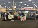 Wide shot of the Nova Polymers Booth at ISA Sign Expo 2019 designed by ATAK