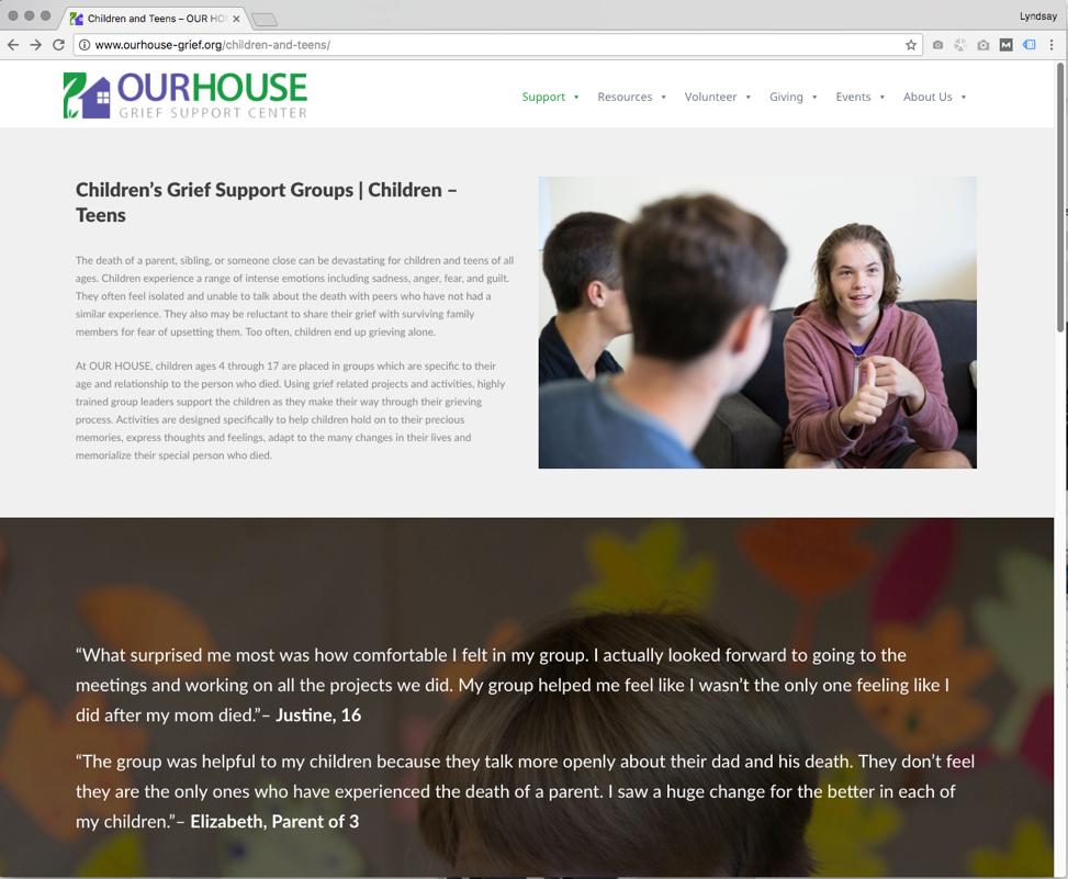 children's Grief support groups
