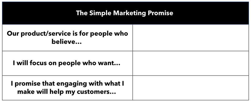 Blank Simple Marketing Promise worksheet