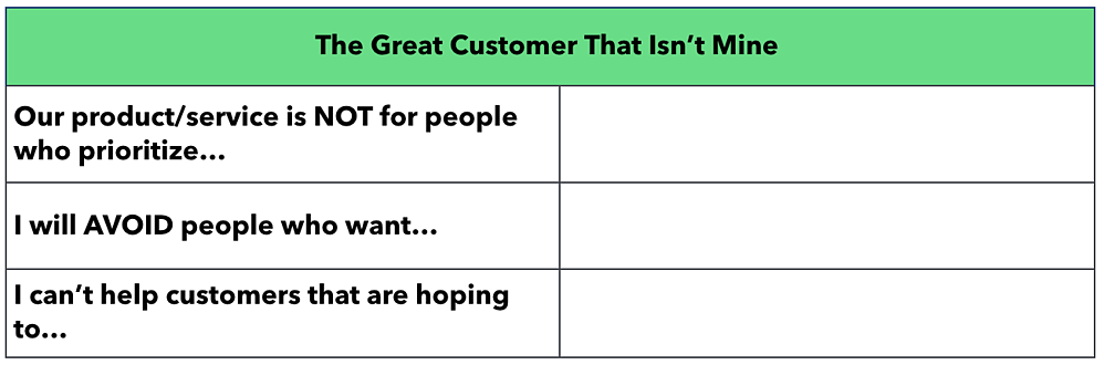 "Blank ""Great Customer That Isn't Mine"" template"