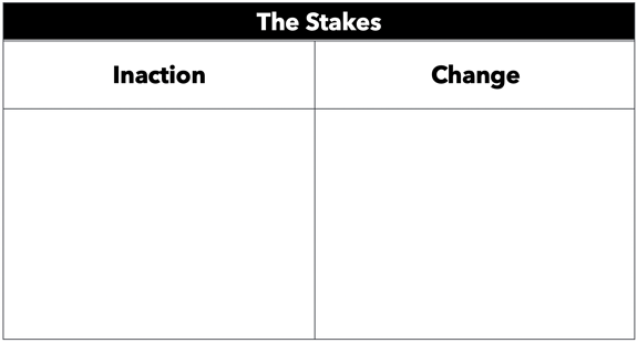 StoryBrand Elevator Pitch Stakes Blank Template