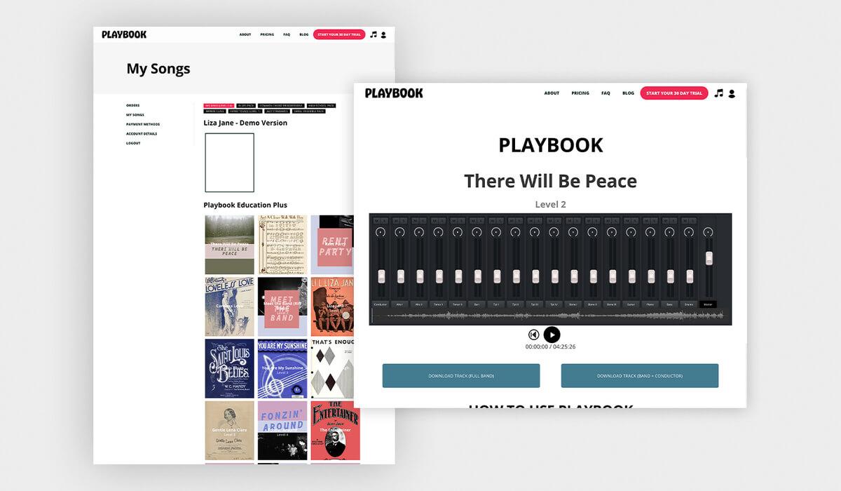 Playbook Sound Mixer Web Design