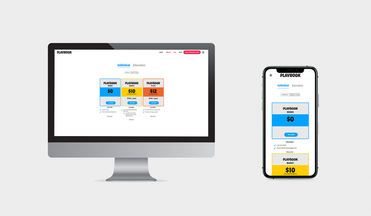 Desktop and Mobile Friendly Playbook Page Design