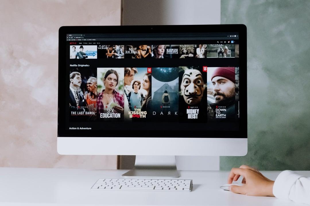 Netflix dashboard on iMac