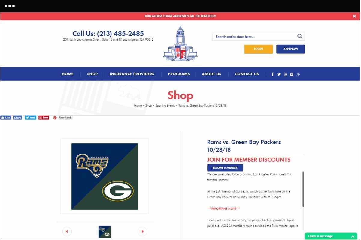 Shop Detail Page Design