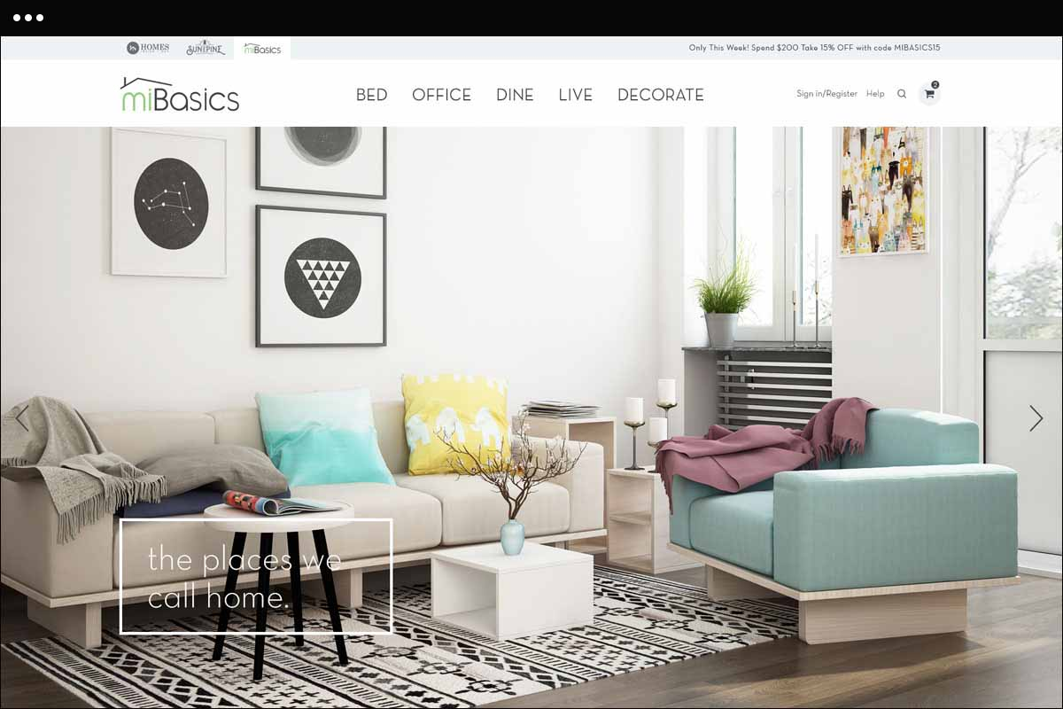 New Home Page for miBasics