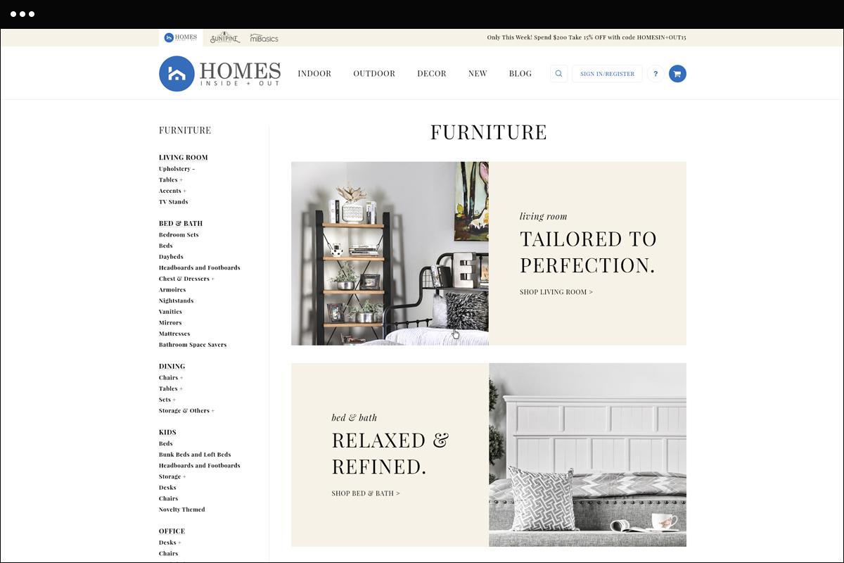 Unique Category Page Design