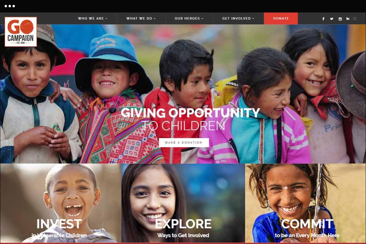 Go campaign Homepage Design