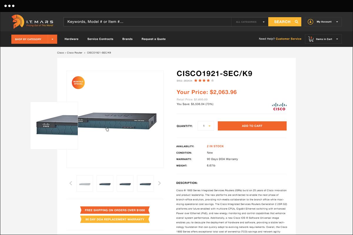 Shop Category Detail Page Design