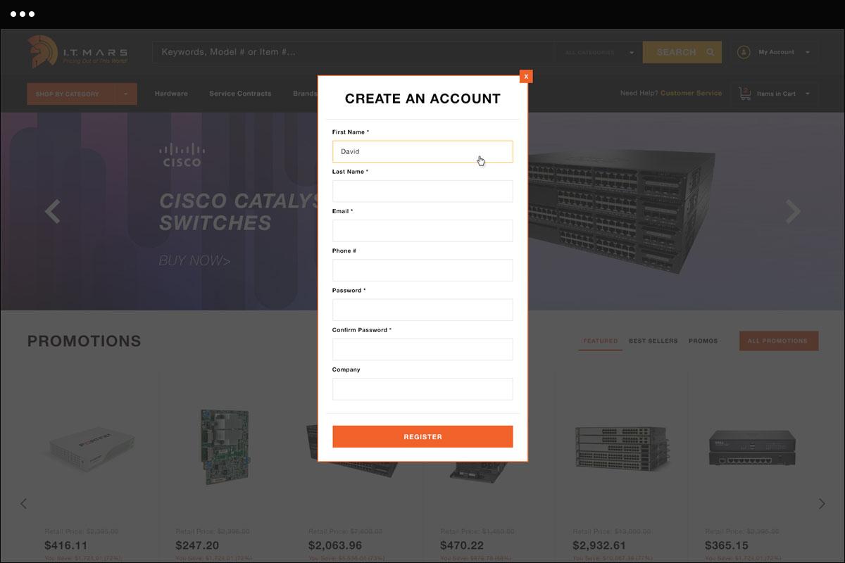 Create An Account Design