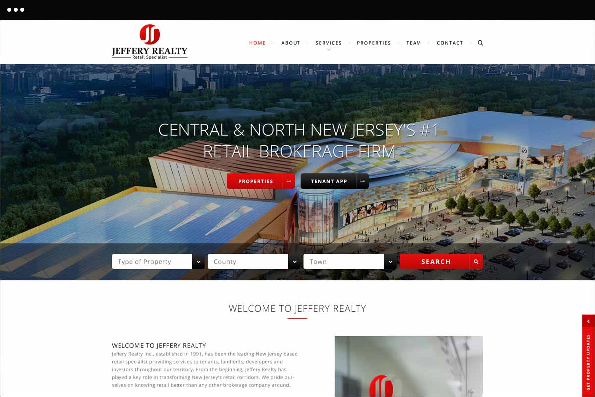 Jeffrey realty Home Page Design