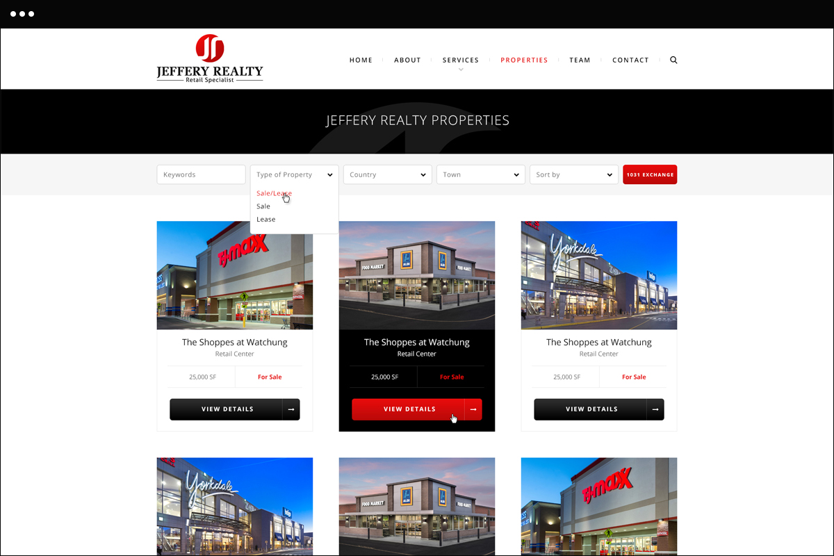 Properties Page Design
