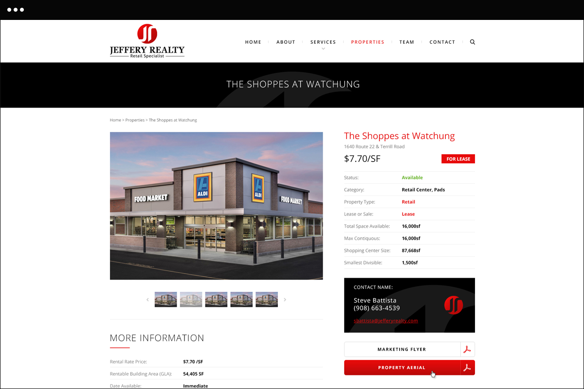 Properties Detail Page Design