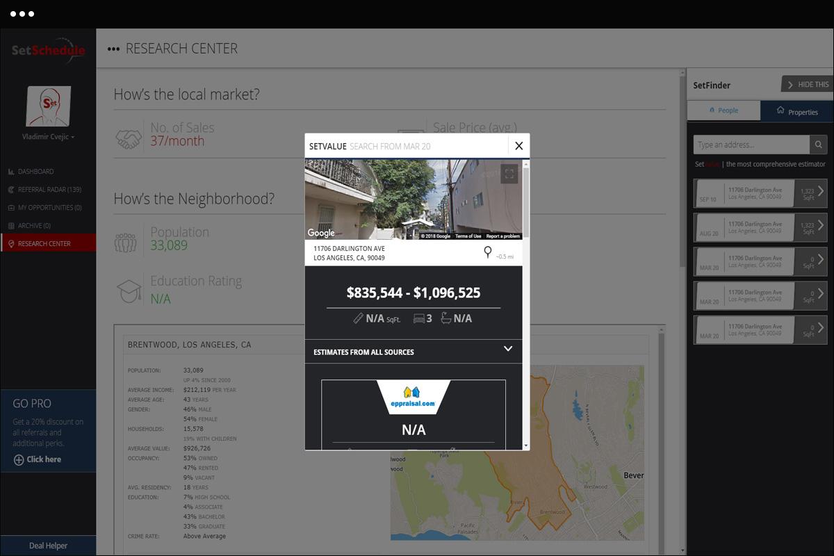 App Research Tool Screen