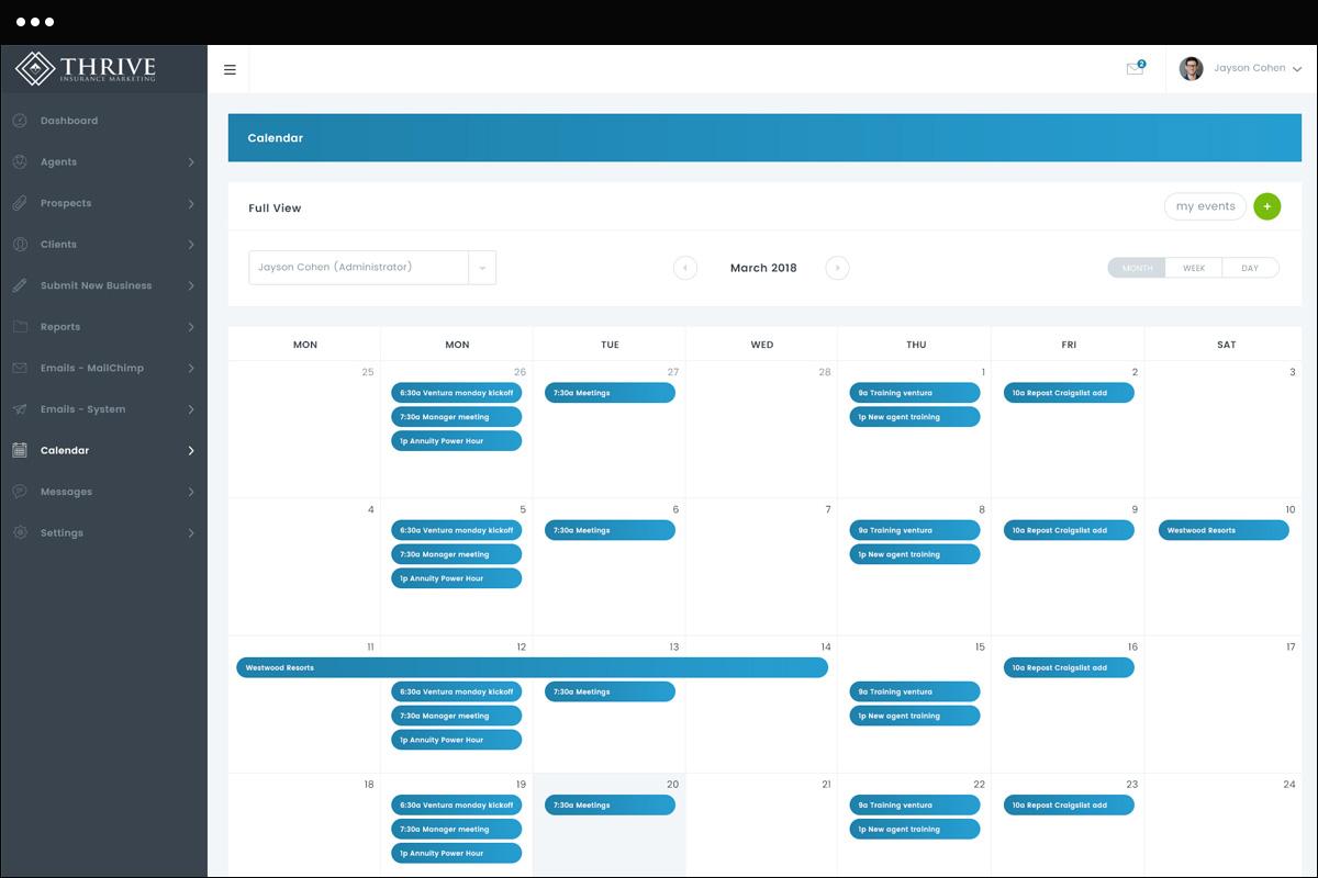 Calendar Page Design