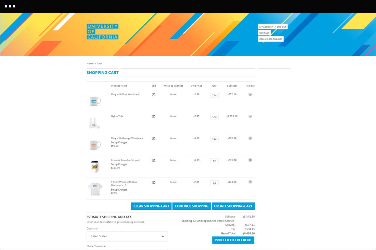 Cart Page Design