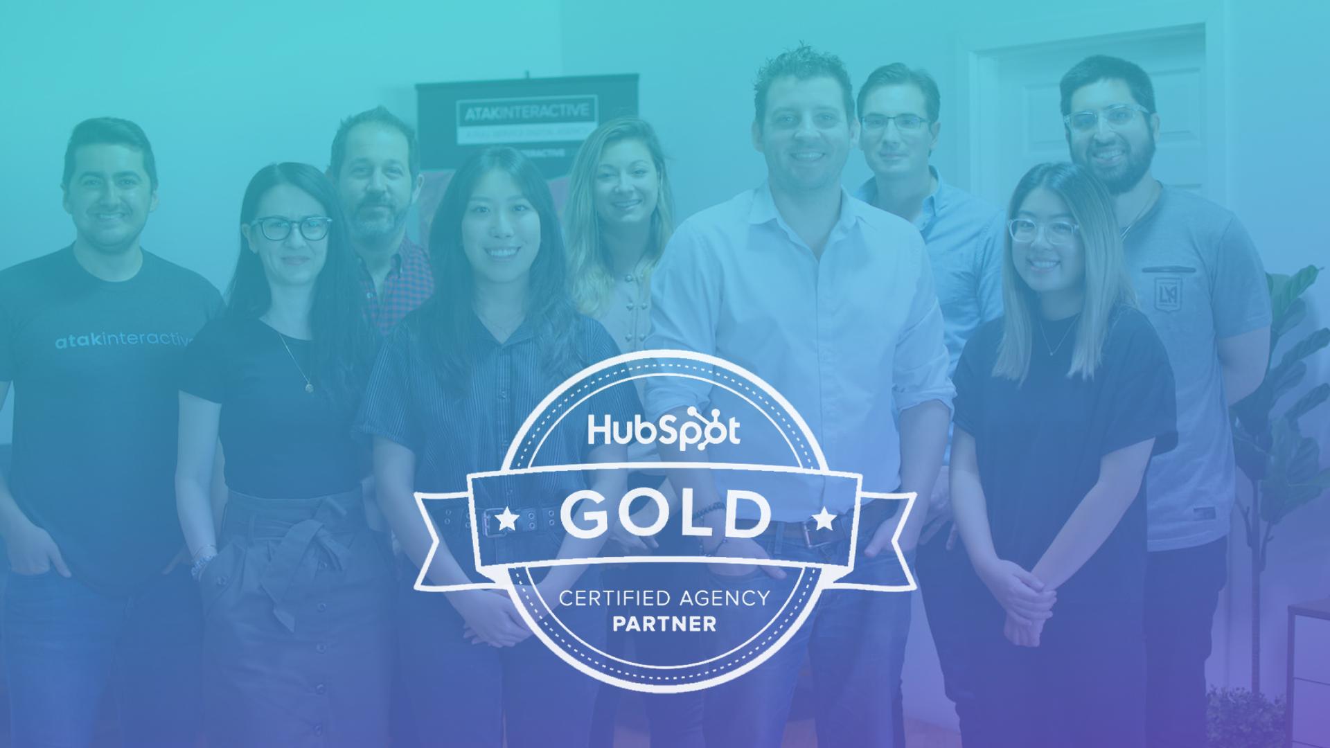 ATAK Interactive Named HubSpot Gold Agency